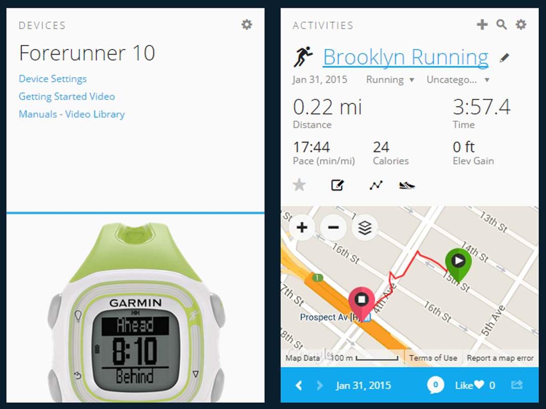 garmin connect forerunner 15