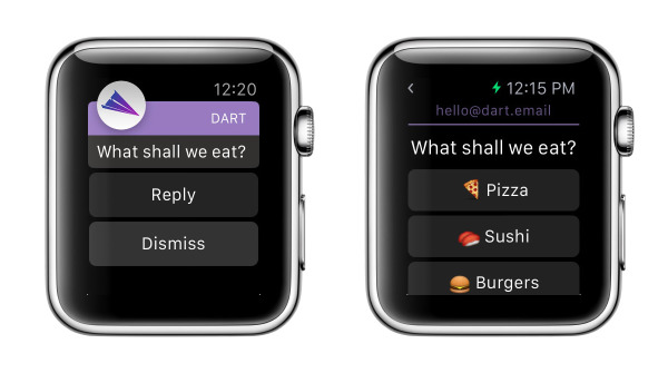 email dart apple watch