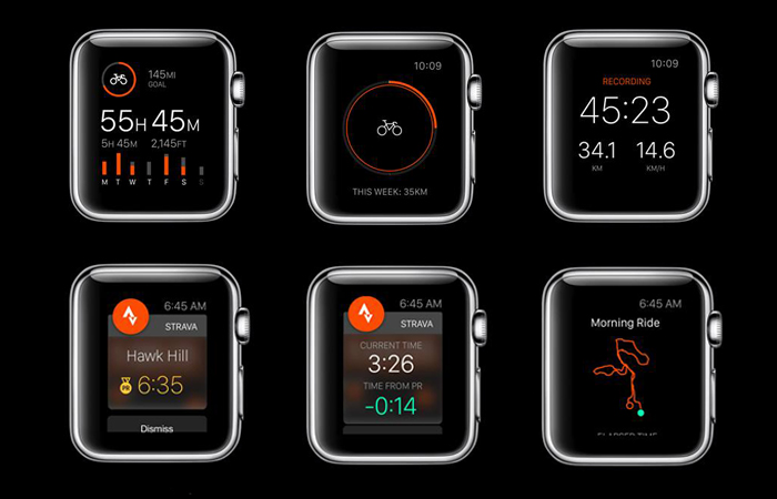 bici per apple watch