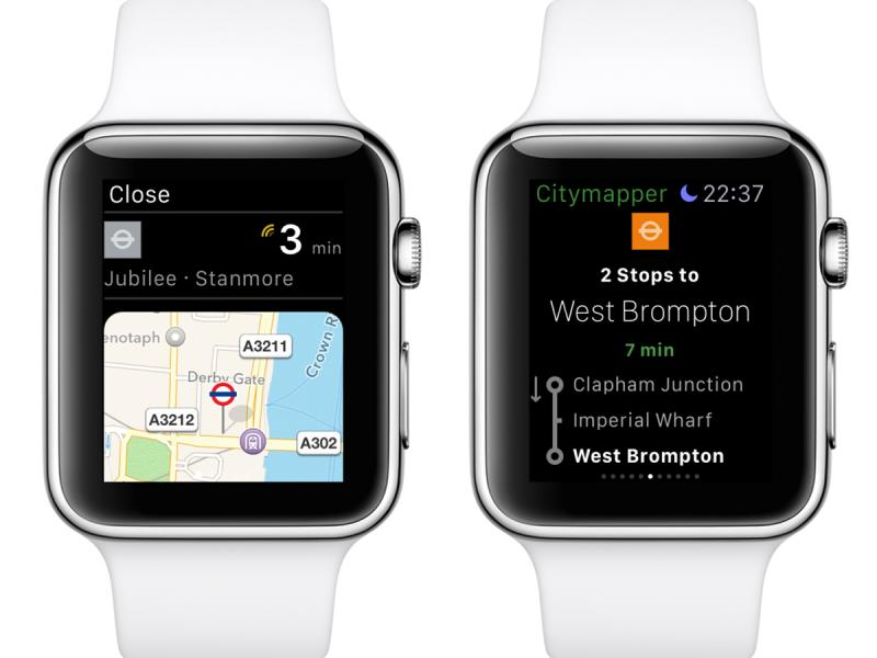 mappa apple watch citymapper