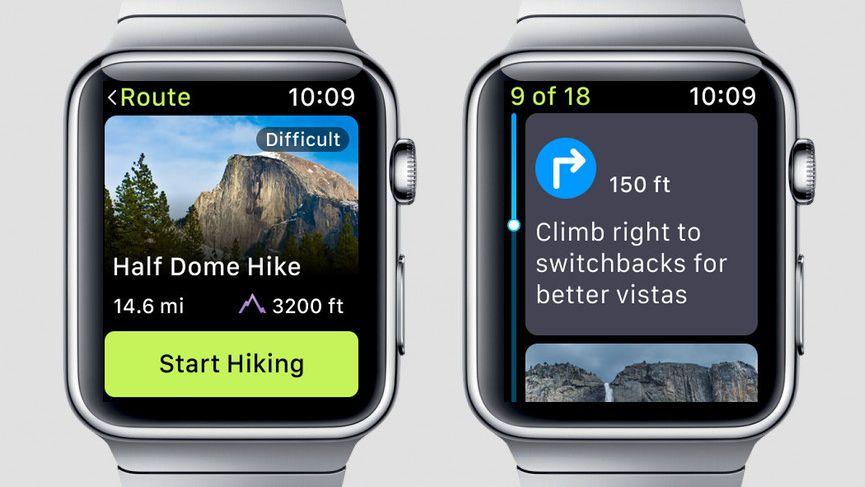 app per hiking apple watch