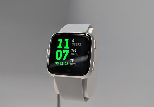 Menu display Fitbit Versa