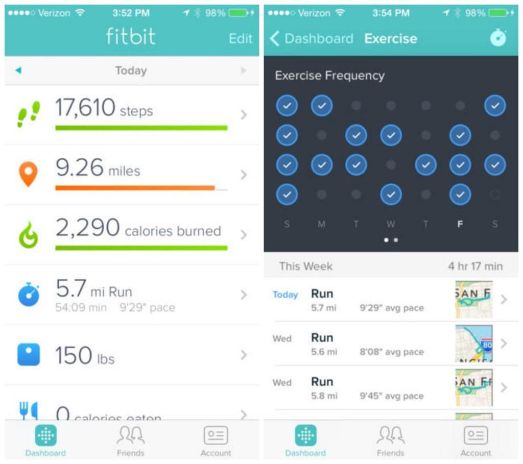 fitbit app recensione