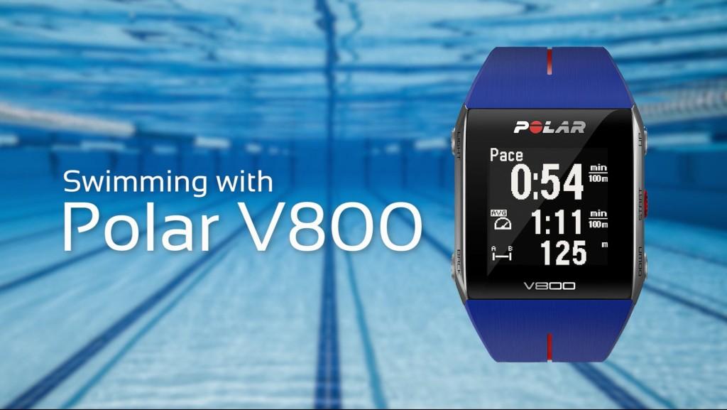 polar v800 nuoto