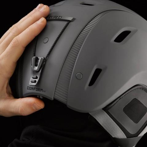 casco sci regolabile