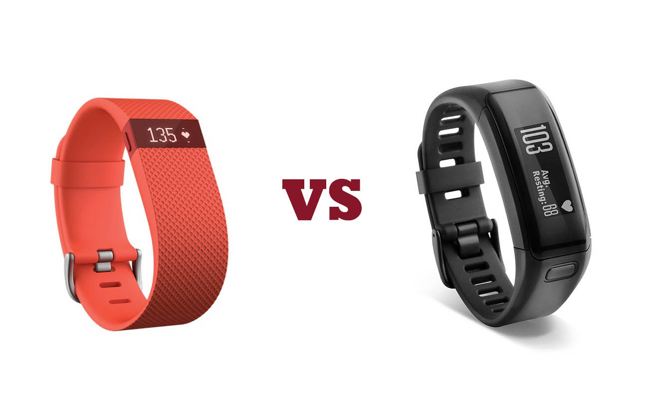 Fitbit Charge HR confronto Garmin VivoSmart HR