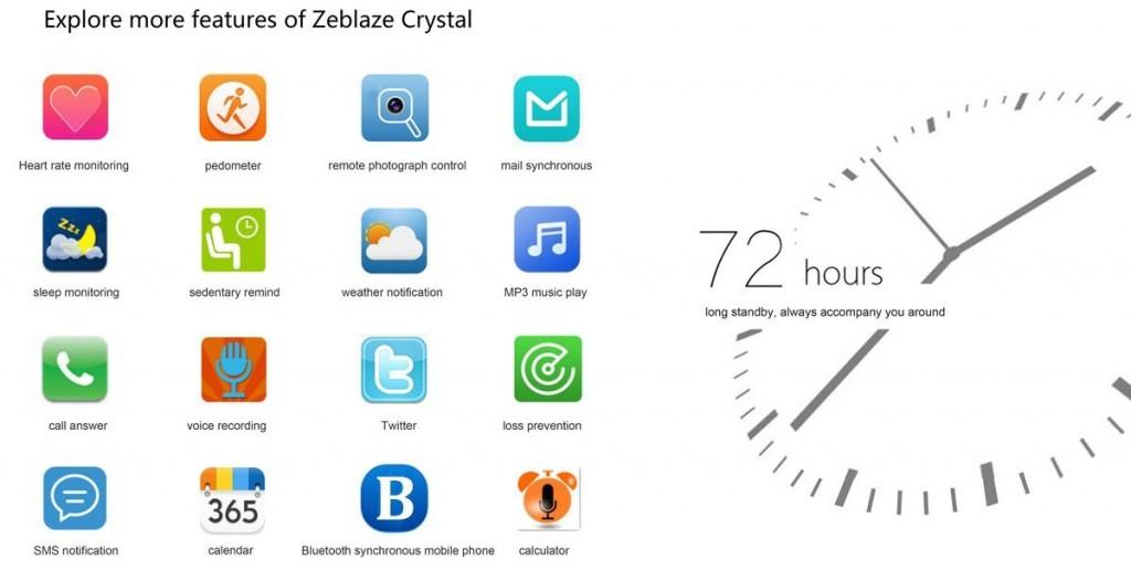 caratteristiche zeblaze app