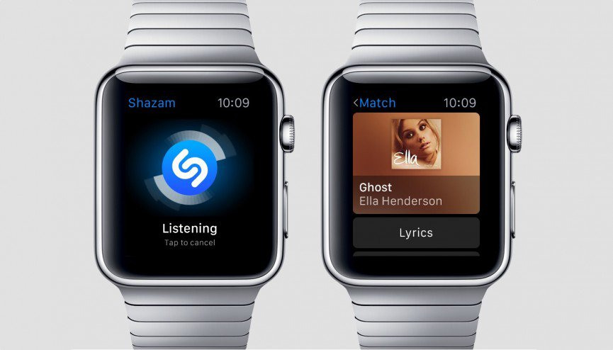 shazam per apple watch
