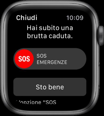 funzionalità riconosci caduta Apple Watch Serie 4